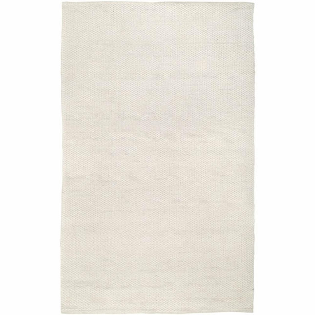 Rizzy Rugs White Solid Hand Woven Dhurrie Area Rug Twist TW3065
