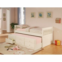 white twin size daybed with trundle storage drawer - Daybeds With Trundles