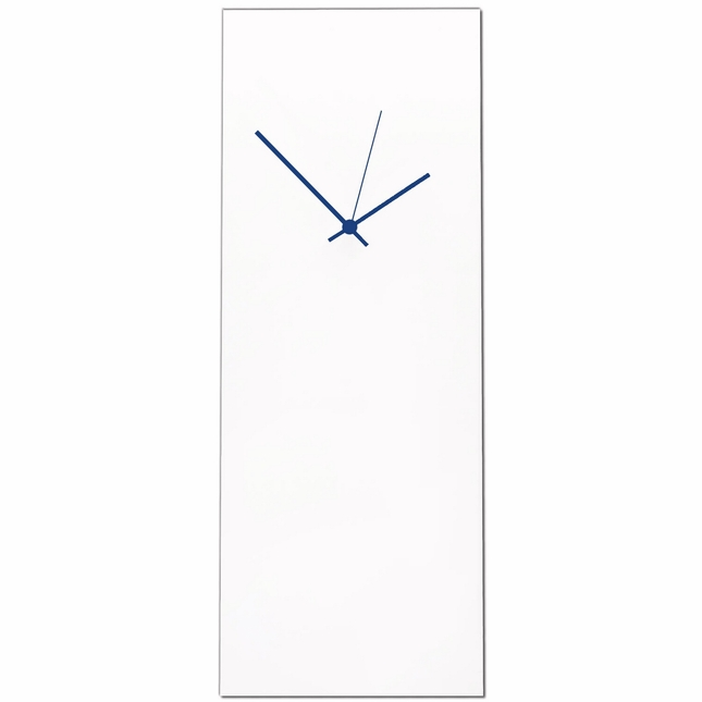 Whiteout Blue Large Wall Clock Minimalist Modern Art L0172-L