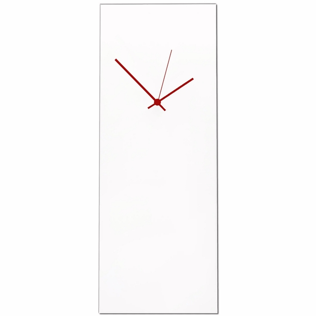 Whiteout Red Large Minimalist Design Modern Wall Clock L0177-L