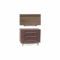 Williamsburg 3-Drawer Distressed Accent Chest in Factory Red
