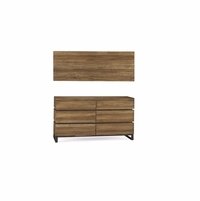 Williamsburg 6-Drawer Dresser With Brown Reclaimed Finish