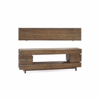 Williamsburg 6-Drawer Entertainment Console with Reclaimed Pine Finish