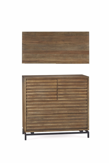 Williamsburg 6-Drawer Textured Chest with Reclaimed Pallet Finish