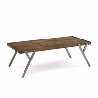 Williamsburg Distressed Radiata Pine Slatted Coffee Table with Angled Legs