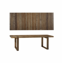 Williamsburg Rough-Sawn Radiata Pine Dining Table with Birch Accents