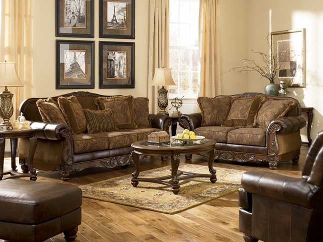 Fresco Traditional Upholstered Living Room Furniture Set by Ashley