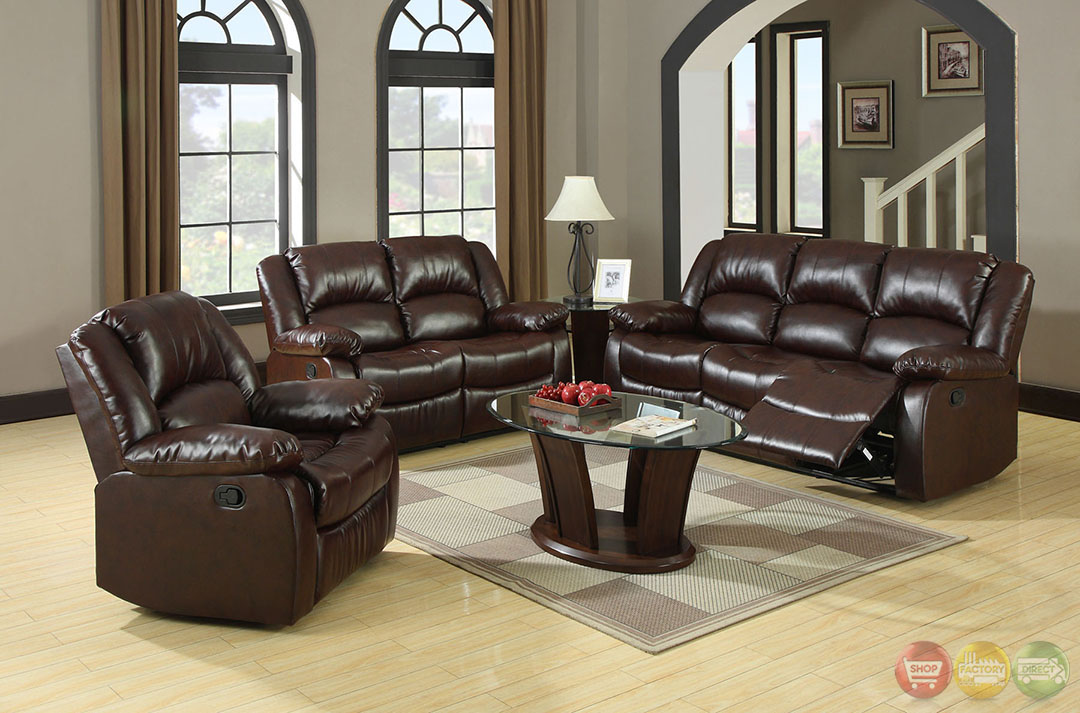 Winslow traditional rustic brown living room set with for Brown living room set