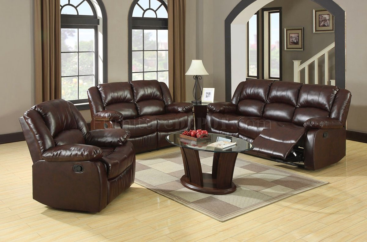 Winslow Traditional Rustic Brown Living Room Set With Plush Cushions Cm6556