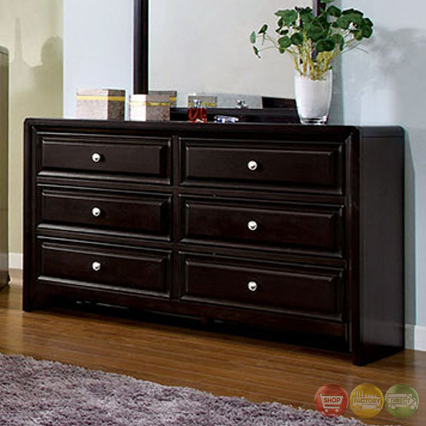 Bristol transitional espresso bedroom set with crown for Transitional bedroom furniture