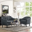Mid-Century Modern Wit Contemporary 2pc Upholstered Living Room Set, Gray