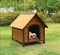 Woodie Modern Rustic Jumbo Wooden Dog House in Oak & Dark Brown Finish