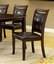 Woodside Contemporary Dark Cherry Casual Dining Set Leatherette Seats