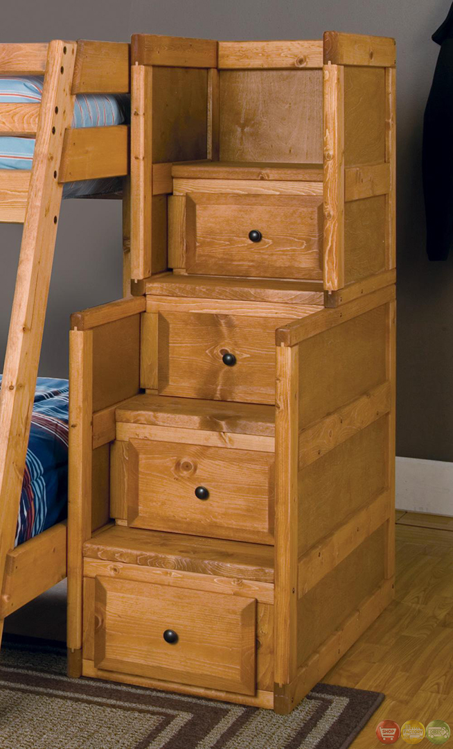 Wrangle full over full bunk bed with storage drawers - Bunkbeds with drawers ...