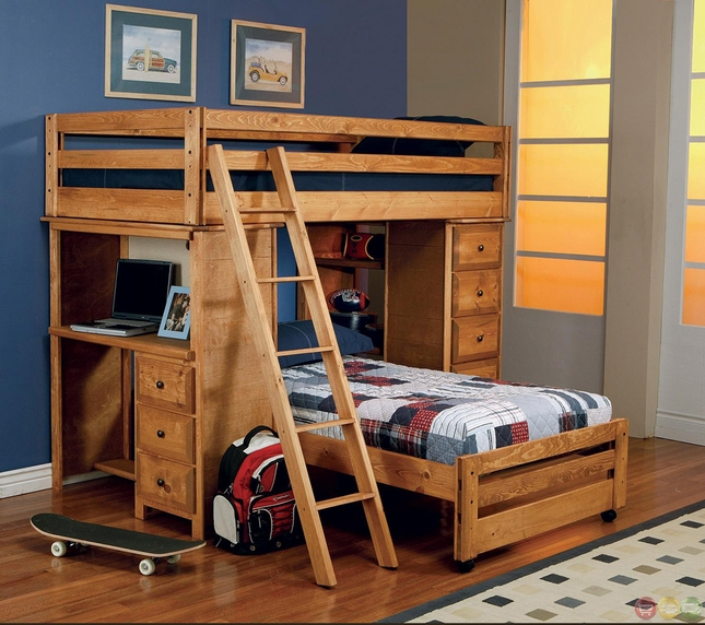Wrangle Twin Over Twin Storage Workstation Bunk Bed