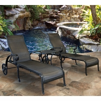 Wyndemere 3 Piece Cast aluminum Outdoor Wicker Chaise Set