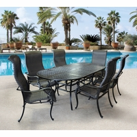 Wyndermere 7 Piece Cast aluminum Outdoor Oval Dining Set with