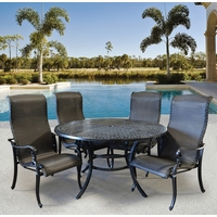 Wyndermere Woven Outdoor Round Dining 5 Piece Set