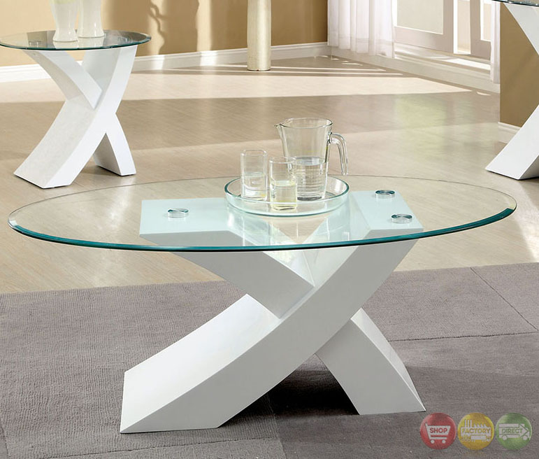 White High Gloss Coffee Table 85 Cm: Xtres Contemporary White Accent Tables With High Gloss