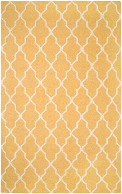 Rizzy Rugs Yellow Lattice Hand Woven Dhurrie Area Rug Swing SG2417