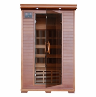 Yukon 2 Person Cedar Infrared Sauna Carbon Heaters & Sound System