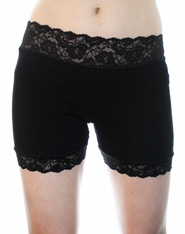 "1.5"" Black Stretch Lace Shorts"
