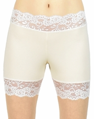 "2.5"" Ivory and Cream / Off-White Stretch Lace Shorts"