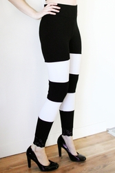 Black and White Wide Stripe Leggings (TEMPORARILY OUT OF STOCK)