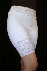 High-Waisted White Stretch Lace Shorts (OUT OF STOCK, NEW VERSION COMING SOON)