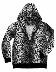 Men's White Leopard Hoodie (OUT OF STOCK)