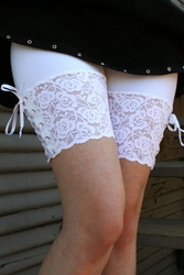 White Lace-Up Stretch Lace Shorts (OUT OF STOCK, NEW VERSION COMING SOON)