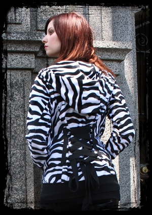 Zebra Half-Back Corset Hoodie (OUT OF STOCK)
