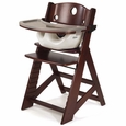 Mahogany High Chair + Infant Insert
