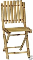 2 Folding Patio Bamboo Chairs