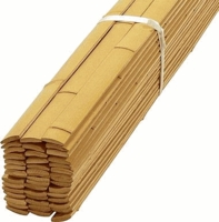 "25 Natural Bamboo Flat Slats 1.75""x8ft"