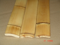 "25 Smoked Carbonized Bamboo Flat Slats 1.75""x6ft"