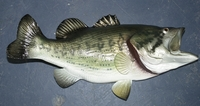 "28"" Large Mouth Bass Half Mount Fish Replica"
