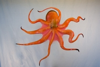 "32"" Octopus Half Mount Fish Replica"