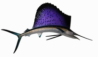 "42"" Sailfish Half Mount Fish Replica"