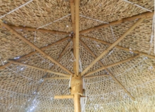 5ft Bamboo Seagrass Umbrella Replacement Top Cover