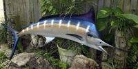 "84"" Blue Marlin Half Mount Fish Replica"