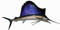 "84"" Sailfish Half Mount Fish Replica"