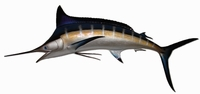 "94"" Blue Marlin Half Mount Fish Replica"