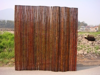 "TWO Bamboo Fence Mahogany <p>1""x 8'x  8'"