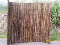 "Bamboo Fence Natural Black <p>1""x 6' x 8'"