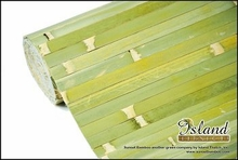 Bamboo Wainscoting Wallpaper Raw Green 4'x8'