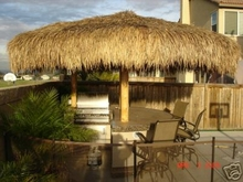 FIRE RETARDANT<br>14ft Commercial Grade Palapa Thatch Umbrella Cover