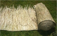 "FIRE RETARDANT<br>30""x 10ft Commercial Grade Tiki Thatch Roll</p>"