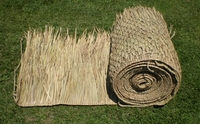 "FIRE RETARDANT<br>36""x 60ft Commercial Grade Tiki Thatch Roll</P>"