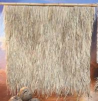 FIRE RETARDANT<br>4' x 4' Palm Grass Tiki Thatch Panels